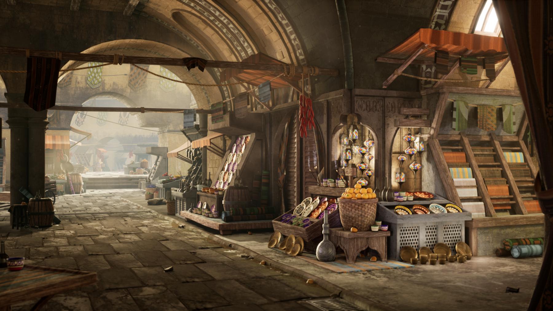 Bazaar Scene Created by Grace Magnant