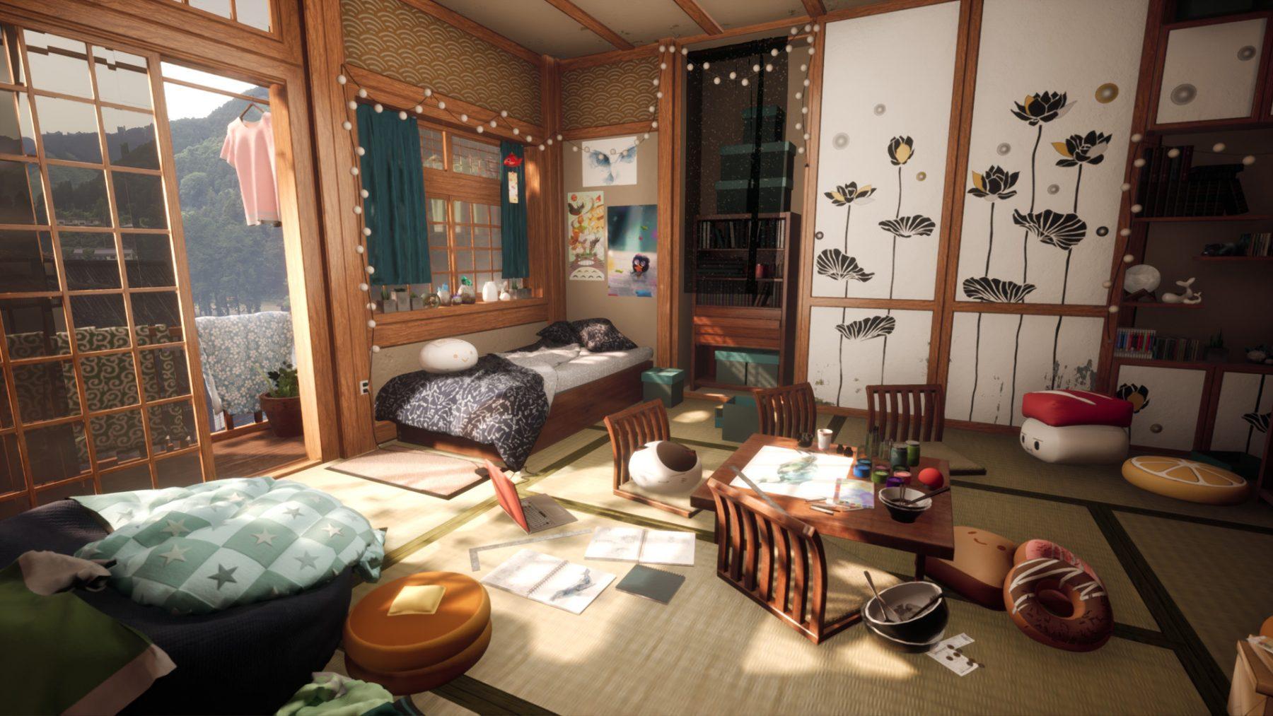 Animated bedroom